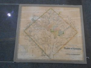 Matboard stuck to antique map