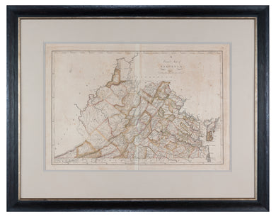 Antique map of Virginia