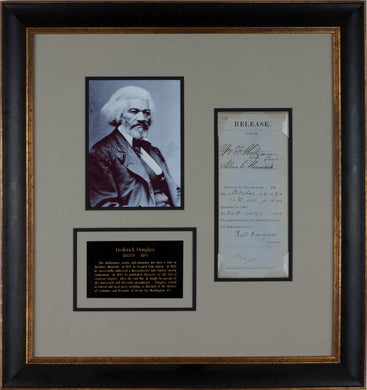 Frederick Douglass Signed Document