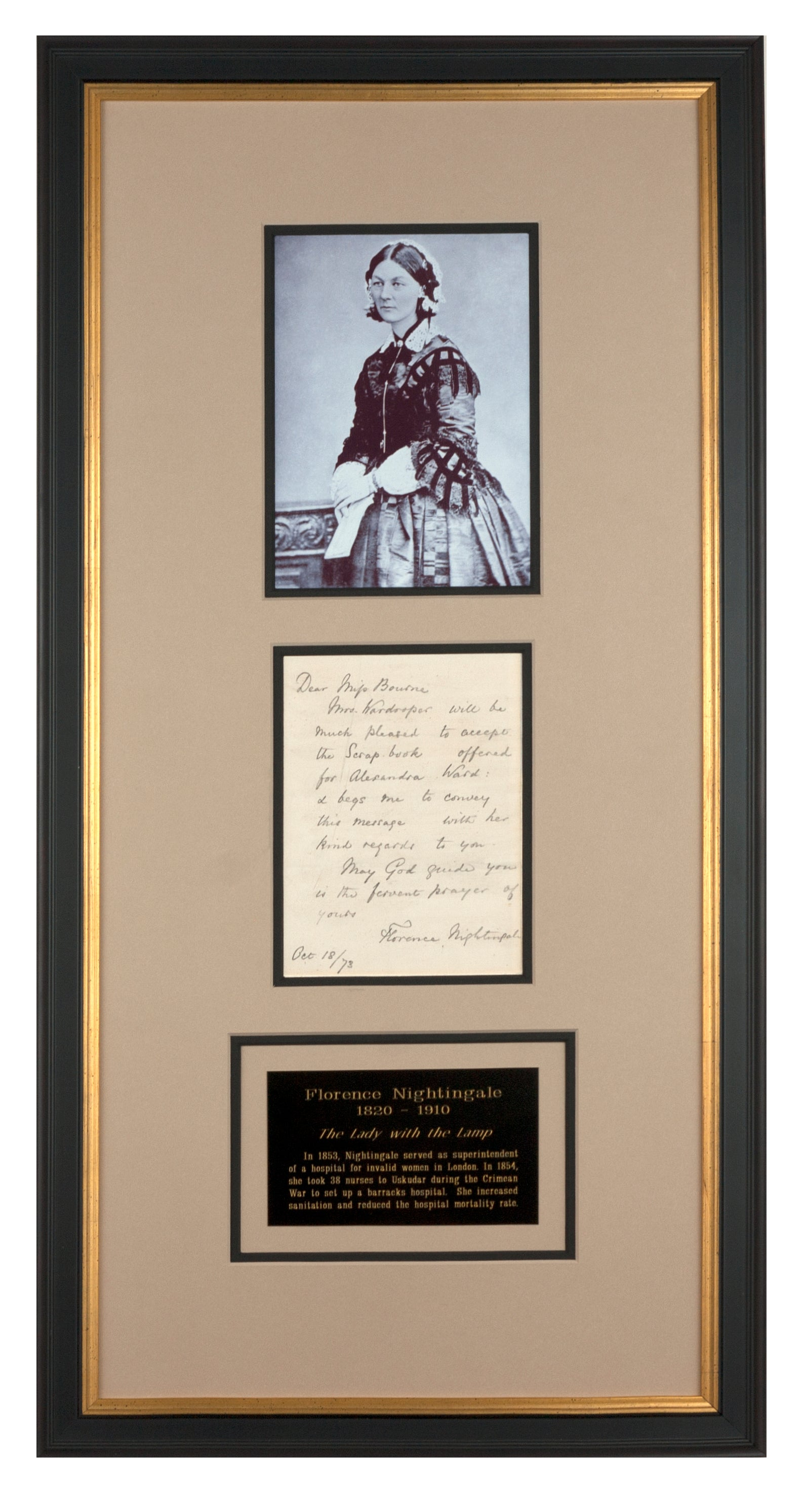 Florence Nightingale Signed Letter
