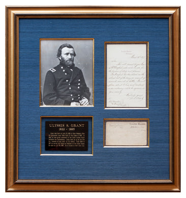 Ulysses S. Grant Signed Letter as President and Envelope