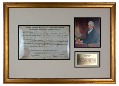 President James Monroe signed document