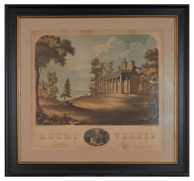Antique print of Mount Vernon