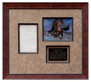 1898 Theodore Roosevelt signed letter as a Rough Rider