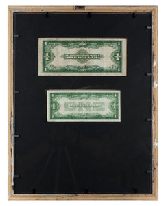 Framed paper money