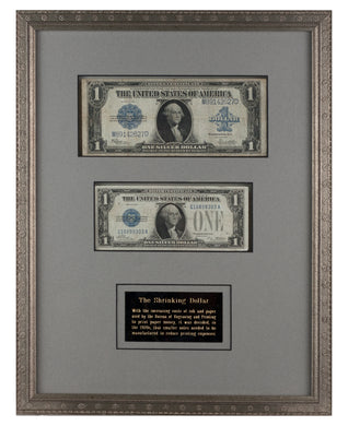 Shrinking Dollar (Genuine U.S. Paper Money)
