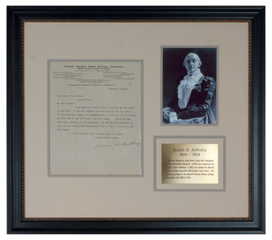 Susan B. Anthony signed letter