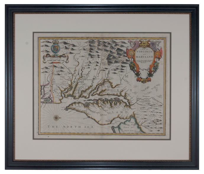 1676 Speed Map of Virginia and Maryland