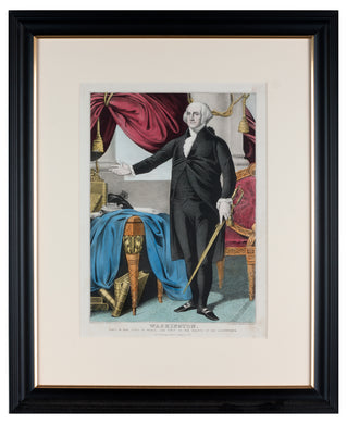 Original Antique Lithograph of George Washington