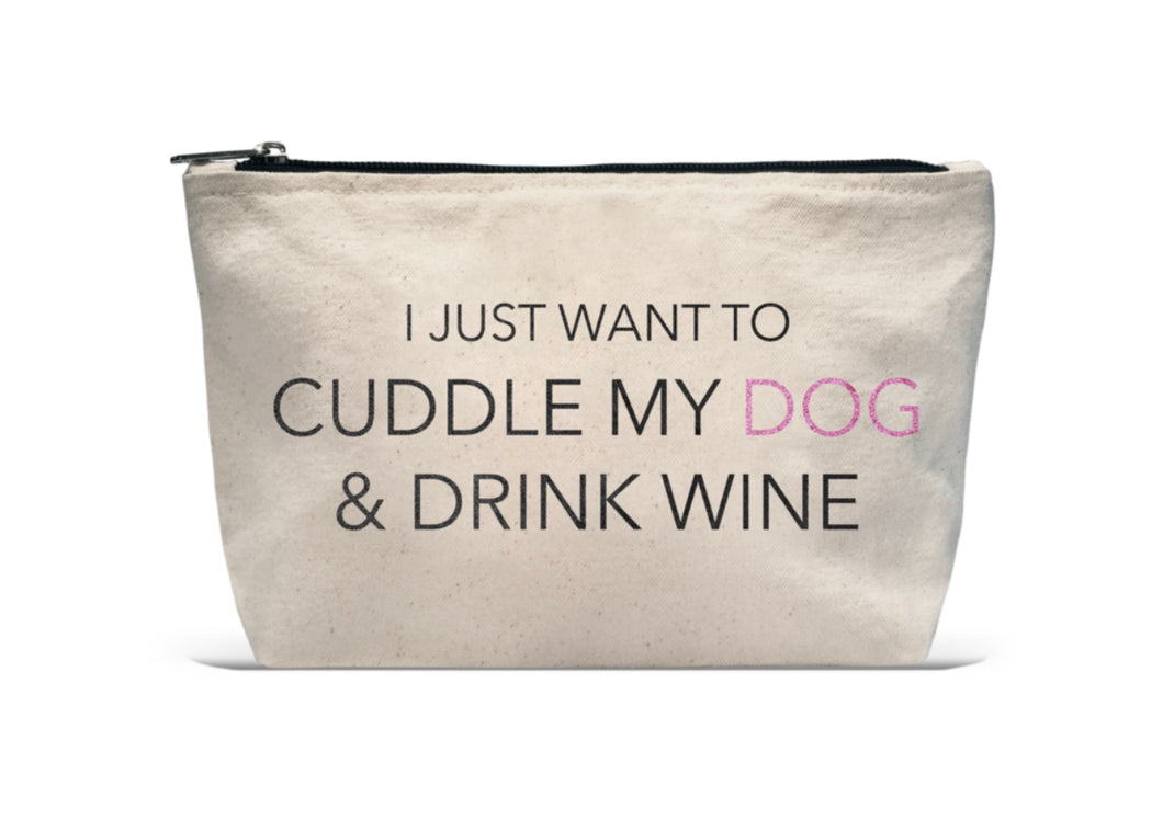 Cuddle My Dog Makeup Bag with Free Shipping