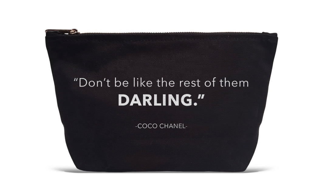 Don't Be Like the Rest Darling Makeup Bag with Free Shipping