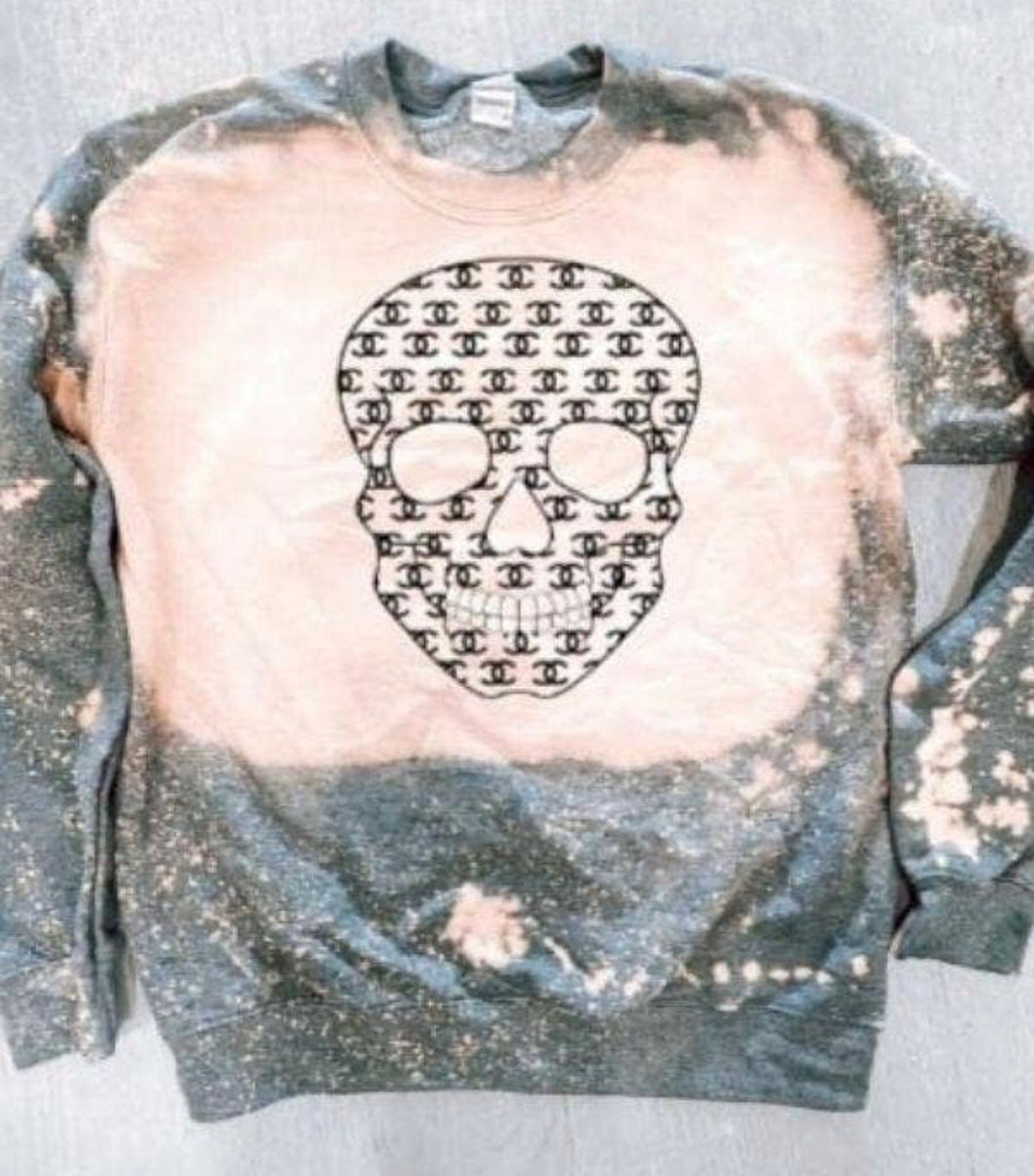 Chanel Skull Sweatshirt with Free Shipping