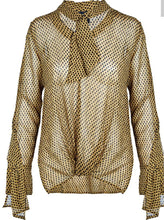 Load image into Gallery viewer, Bronze Mist Mix Front Tie Blouse