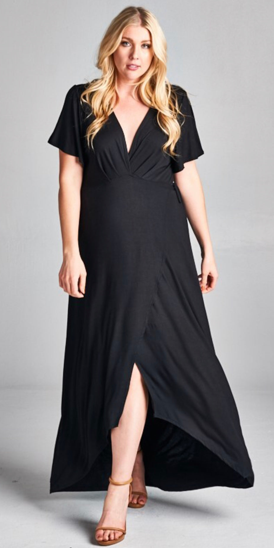 Plus Size Wrap Around Maxi Dress with Free Shipping