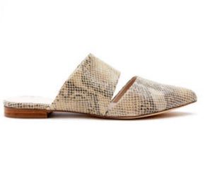 Berlin Natural Snakeskin Mule Free Shipping