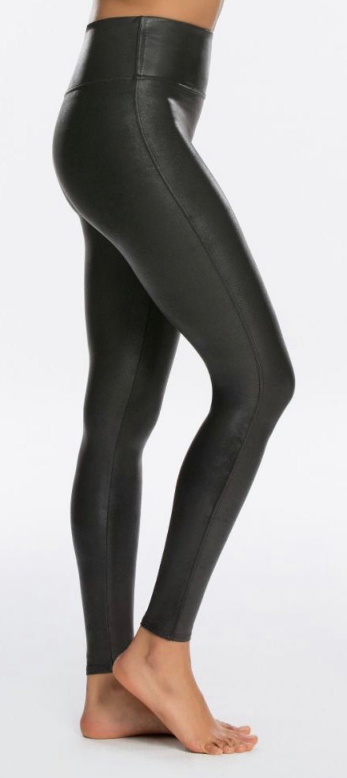 Faux Leather Black Legging with Free Shipping
