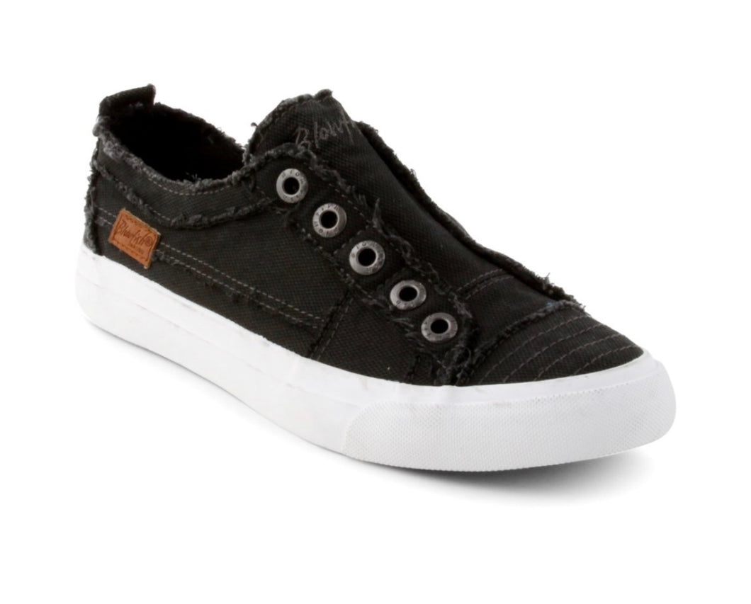 Smoke Black Canvas Sneaker with Free Shipping
