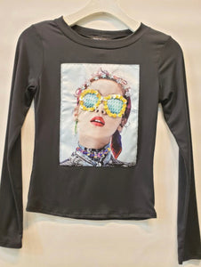 Sequin Accent Shirt with Free Shipping