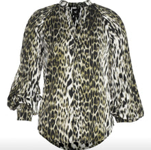 Load image into Gallery viewer, Green Leopard Button Front Shirt Free Shipping
