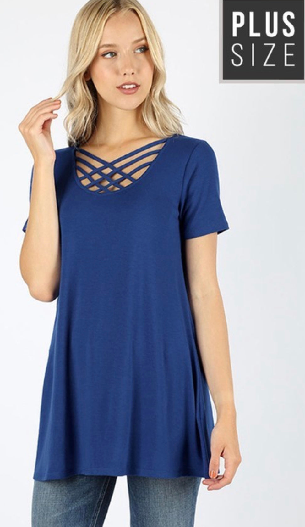 Lattice Swing Top in Sapphire with Free Shipping