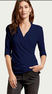 Anne Surplice Top with Free Shipping
