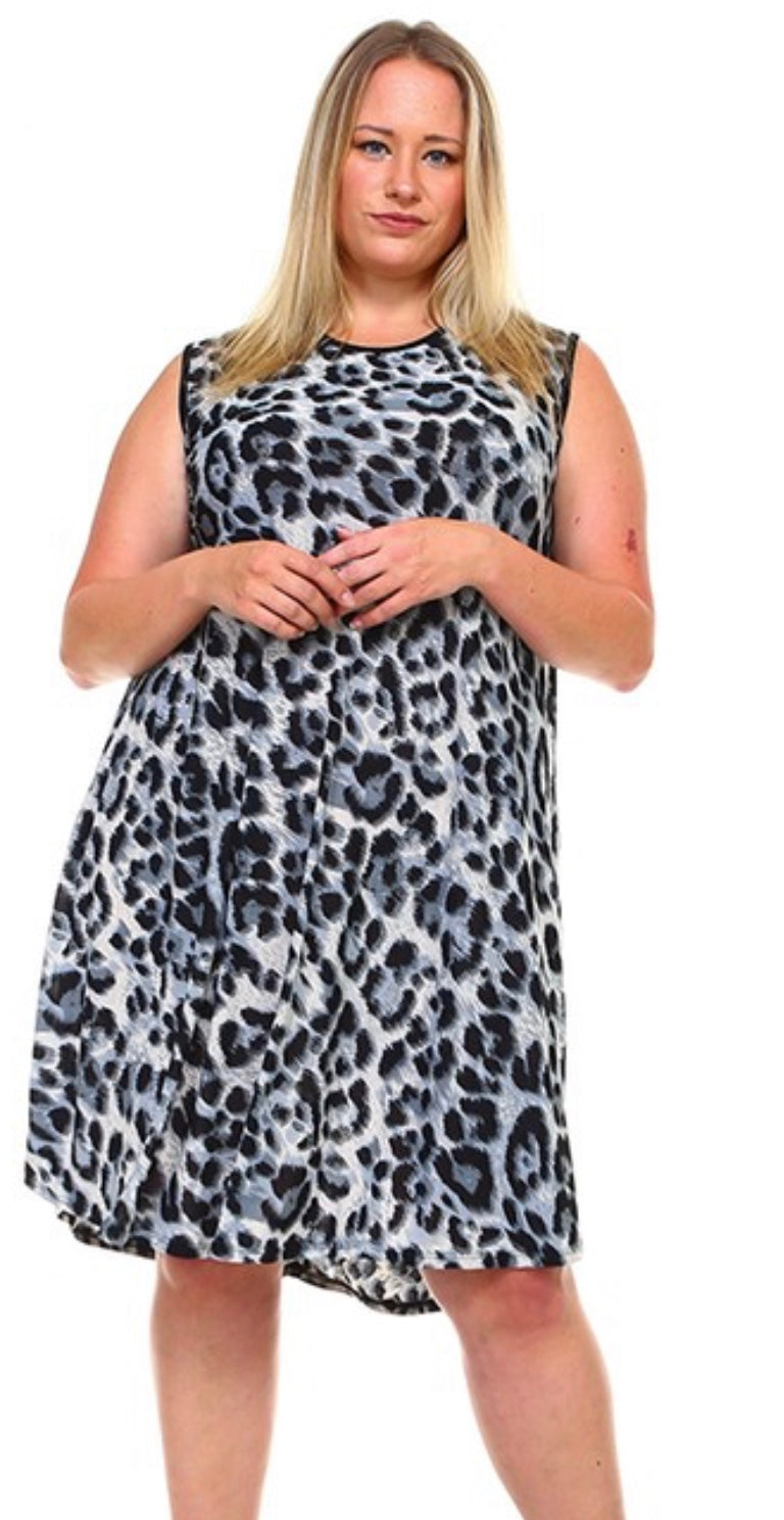 Animal Print Shift Dress with Free Shipping