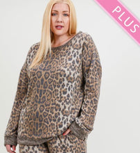 Load image into Gallery viewer, Leopard Print Sweatshirt with Free Shipping