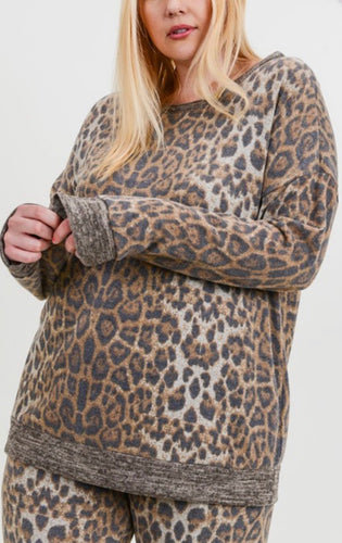 Leopard Print Sweatshirt with Free Shipping