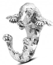 Load image into Gallery viewer, Dog Fever Sterling Silver English Cocker Spaniel Ring Free Shipping