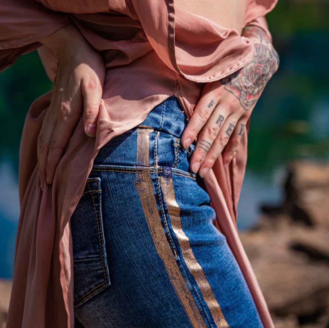 Alexa Jean with Copper Striping with Free Shipping