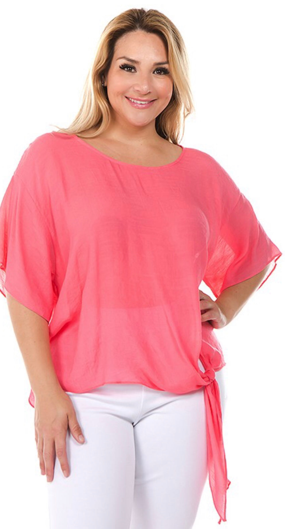 Side Tie Detail Top with Free Shipping
