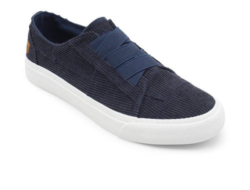 Navy Corduroy Sneaker with Free Shipping
