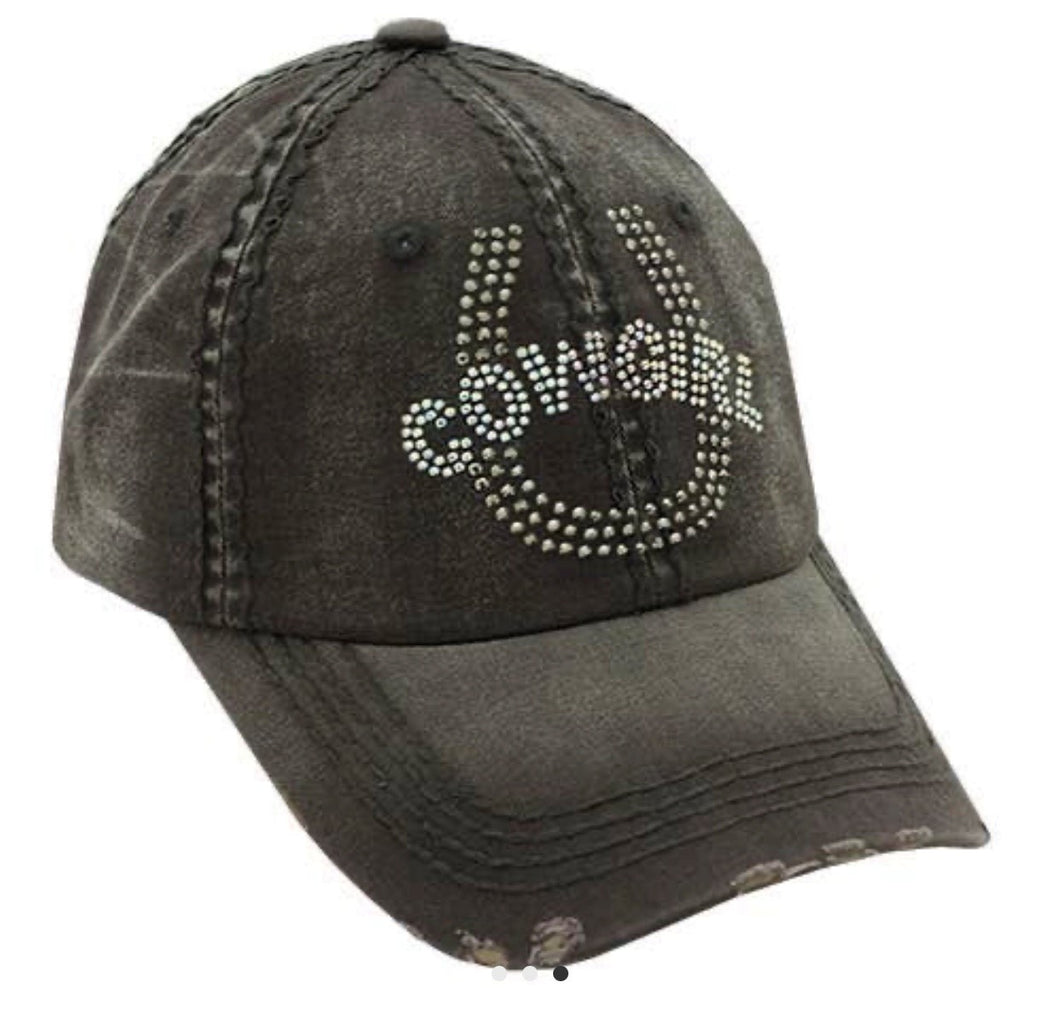 Cowgirl Trucker Hat w/free Shipping