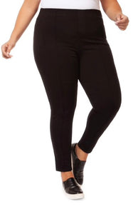 Black Pintuck pull on leggings with Free Shipping