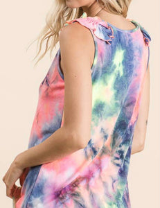 Tie Dye Tank with Free Shipping