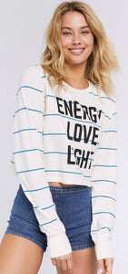 Energy Love Light Crop Tee Free Shipping
