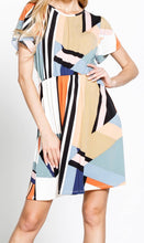 Load image into Gallery viewer, Geometric Print Dress with Free Shipping