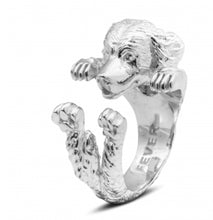 Load image into Gallery viewer, Dog Fever Sterling Silver Golden Retriever Ring Free Shipping