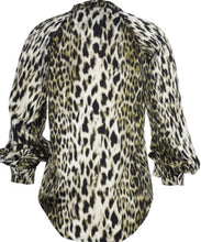 Load image into Gallery viewer, Green Leopard Print Button Front Shirt with Free Shipping
