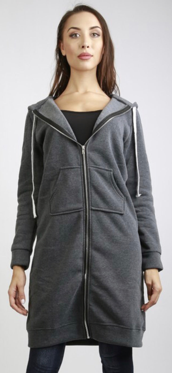 Long Sweatshirt Zip Hoodie Free Shipping