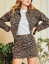 Load image into Gallery viewer, Leopard Print Denim Jacket with Free Shipping