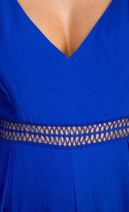 Royal Blue Jumpsuit Free Shipping