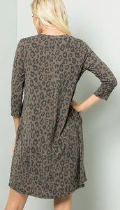 Leopard Dress Free Shipping