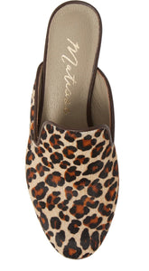 Lacy Leopard Mule Free Shipping