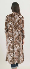 Load image into Gallery viewer, Long Velvet Leopard Kimono with Free Shipping