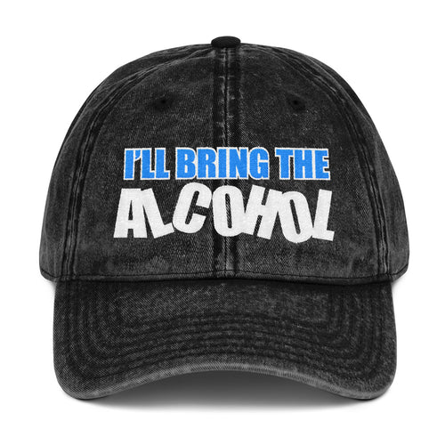 I'll Bring The Alcohol Vintage Cotton Twill Cap Free Shipping