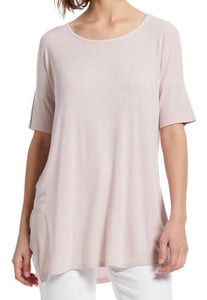 Scoop Neck Tunic in Whisper Pink Free Shipping