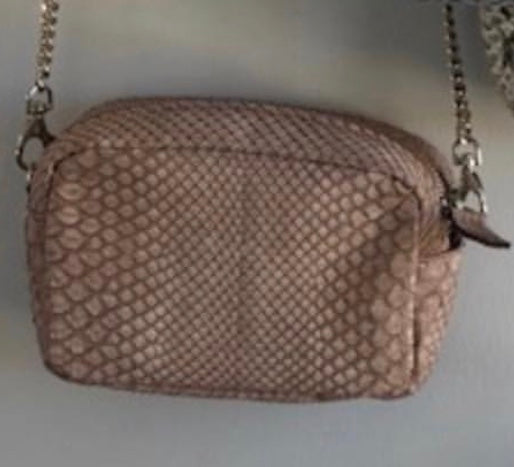 Pink Snakeskin Mini Crossbody Free Shipping
