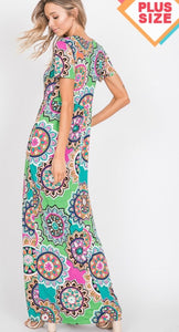 Plus Size Maxi Dress with Free Shipping