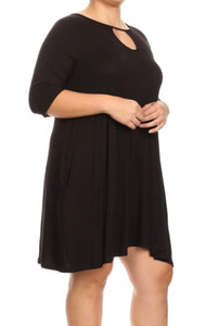 Black Keyhole Dress with Free Shipping